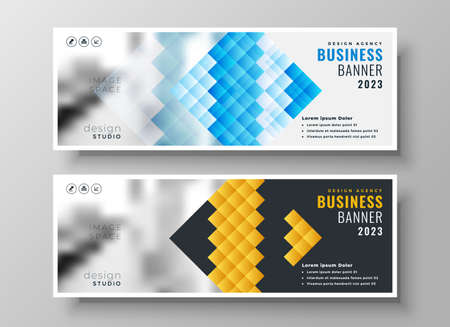 creative style business presentation banner template design