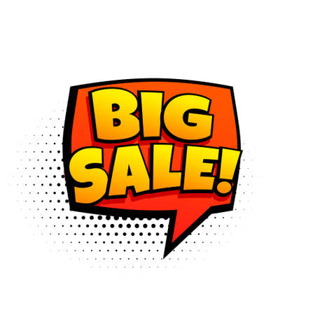big sale marketing template in comic style