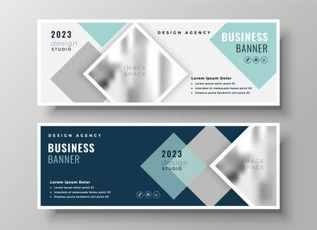 stylish web business modern presentation template design