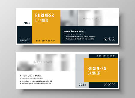 professional modern business banners presentation template design