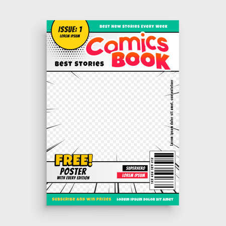 comic book stylish template for your magazine Vettoriali