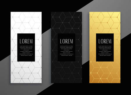 premium vertical menu card banner template design Vettoriali