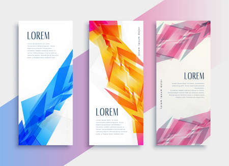 abstract style web vertical banner design template Vettoriali