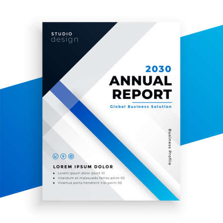 stylish blue annual report business brochure design
