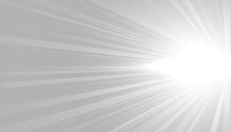 gray background with white glowing rays design