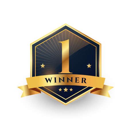 first place number one winner golden label design