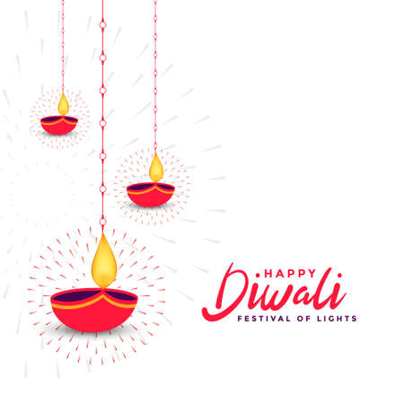 indian happy diwali wishes card design