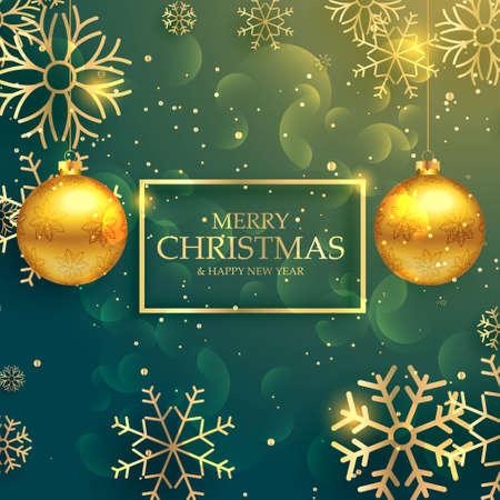 stylish golden christmas balls on luxury style background