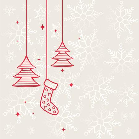 flat merry christmas decorative festival background design