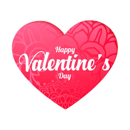 nice happy valentines day heart wishes card design