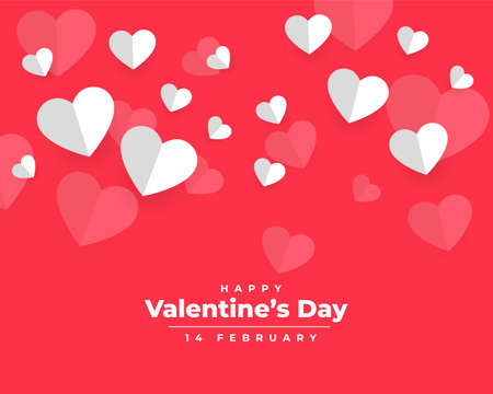 valentines day background in paper style design 向量圖像