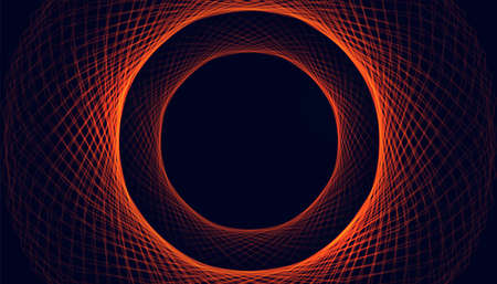 circular glowing lines mesh like spark background