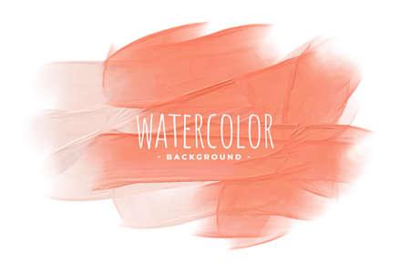 pastel peach pink orange watercolor texture background Vettoriali