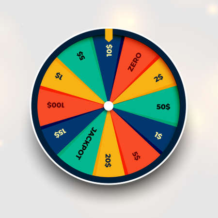 spin fortune wheel of luck background