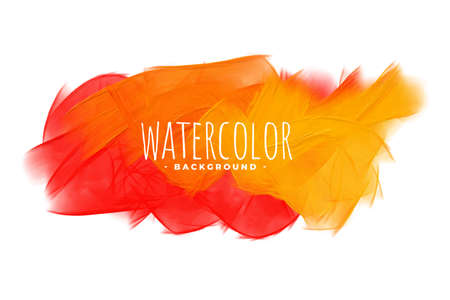 abstract orange shades watercolor texture background