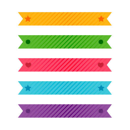 colorful patterned ribbons or adhesive tape set