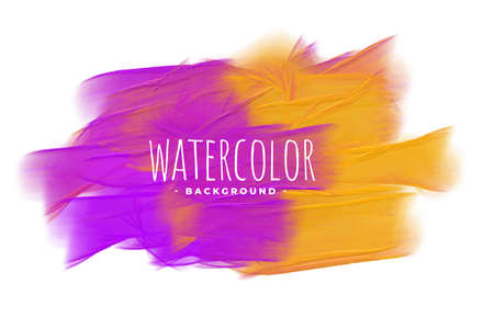 abstract purple and yellow watercolor texture background