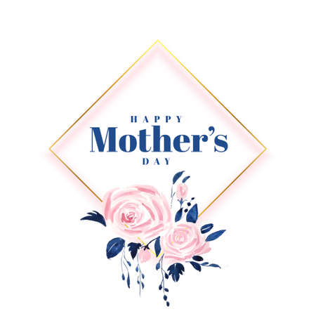 lovely happy mothers day flower card design