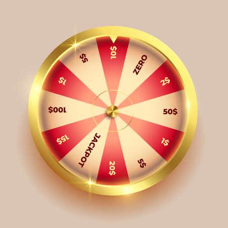 golden wheel of fortune element design Vettoriali
