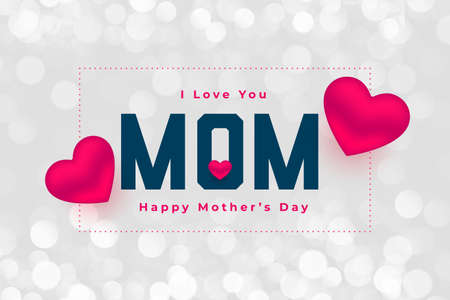 happy mothers day hearts background design