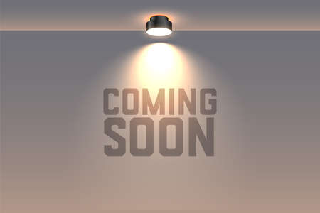 coming soon background with focus spot light