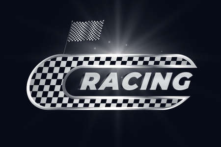 racing background with checkered flag Vettoriali