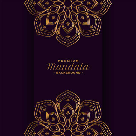 golden mandala decorative background design Vettoriali