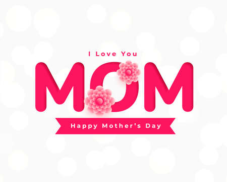 happy mothers day flower card greeting Vettoriali
