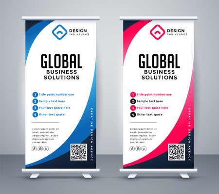 business roll up display standee for presentation purpose