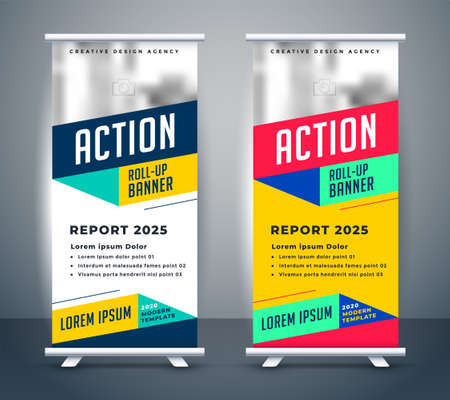 stylish display standee roll up banner template