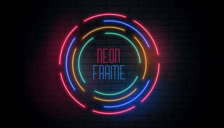 circular neon round colorful background