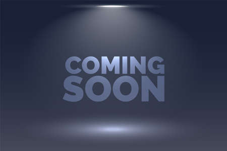 coming soon background with focus light effect