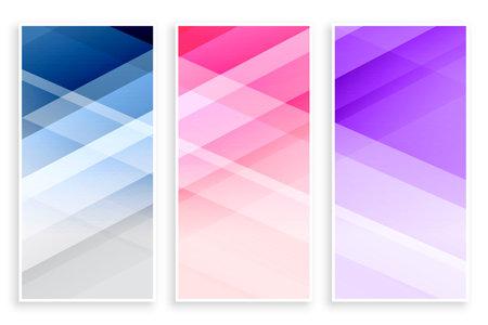 elegant business banners set template