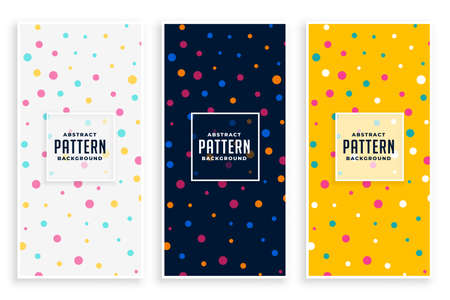 colorful circles pattern set for birthday celebration Vettoriali