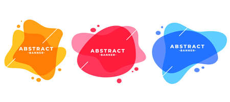 abstract colors frame modern banners set