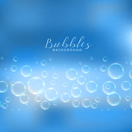 abstract soap or water bubbles blue background