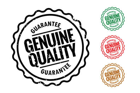 genuine quality rubber stamps set of four