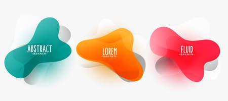 stylish fluid shape modern banners design
