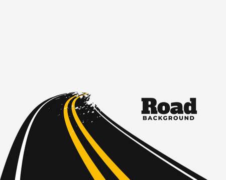 curve road pathway background design