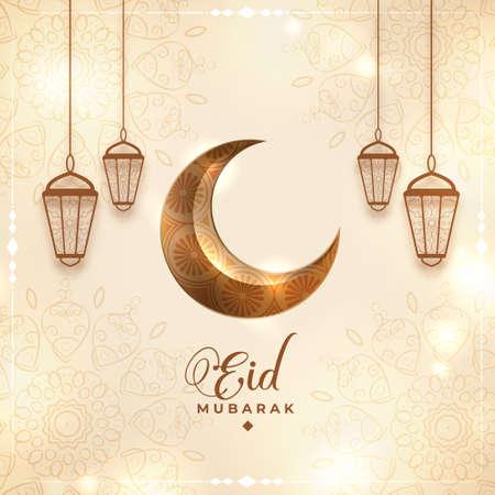 eid mubarak traditional festival background design