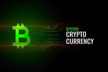 bitcoin concept background with circuit lines