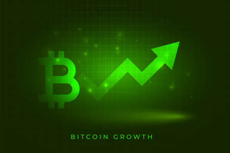 bitcoin success growth chart concept background
