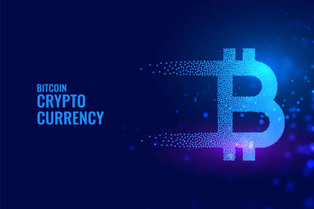 bitcoin technology background in particle style