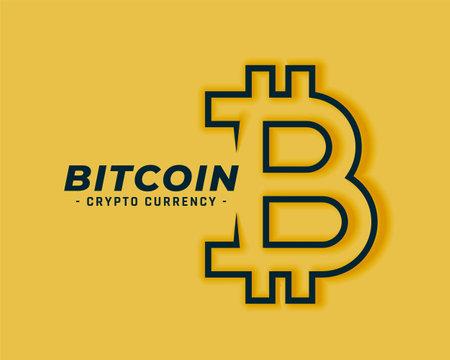 bitcoin symbol in line art style