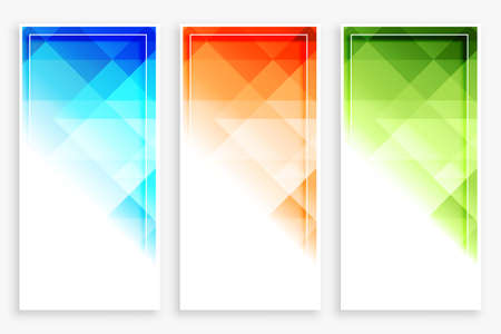 business style modern vertical abstract banner Vettoriali