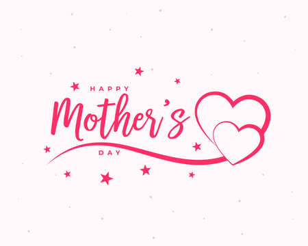 happy mothers day celebration hearts card design