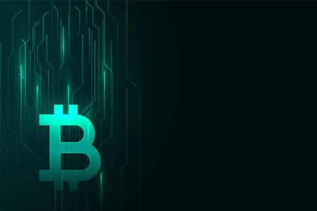 digital bitcoin glowing background design