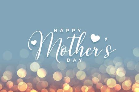happy mothers day bokeh card celebration background