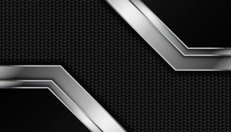 carbon fiber texture with metallic lines Vettoriali