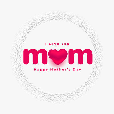 love you mom mothers day beautiful card design Vettoriali